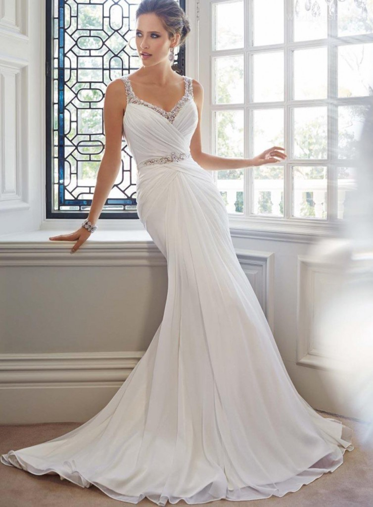 Elegant Mermaid Straps Beading Backless Court Wedding Dress Image Source: weddingshe.com Image Hosted on The Lifestyle Avenue's server