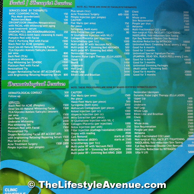 Wellness City Price List