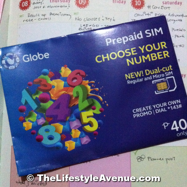 Globe Prepaid Choose Your Number SIM Card
