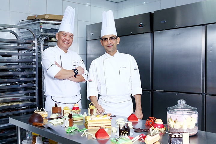 Chef Fil Afable of Marriott Manila and Chef Anil of Felchin Switzerland