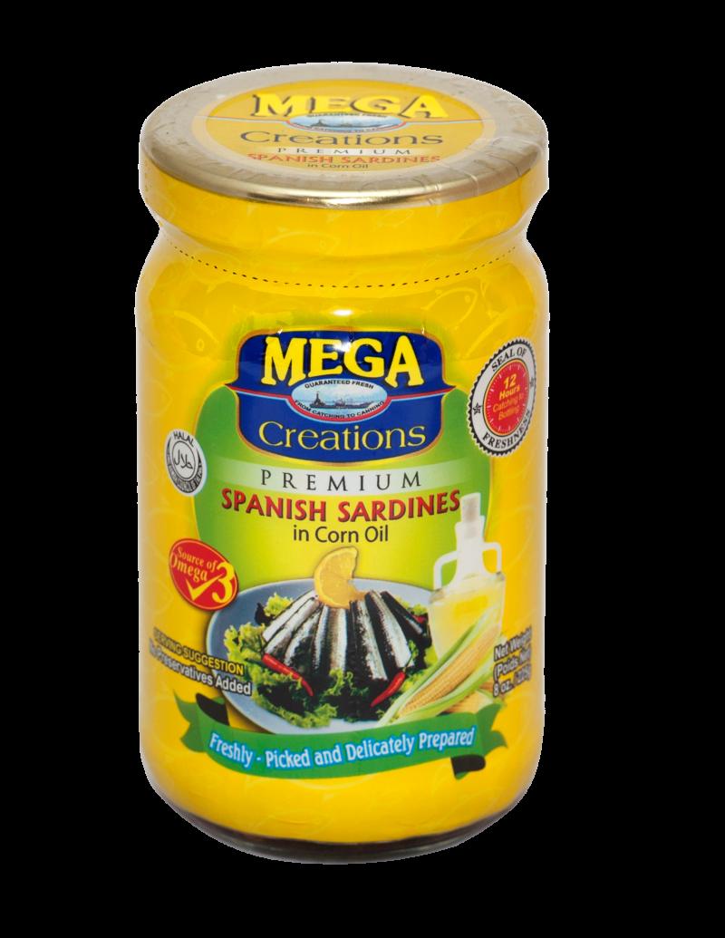 Creations Bottle _Spanish Sardines in Corn Oil