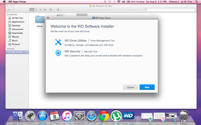 When you click the WD Apps Setup file, you will see this window.