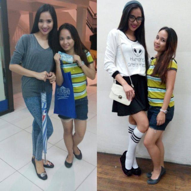 Left: Before the challenge Right: After the challenge. Left to Right, Miss Lyra Velchez and Athena Tria