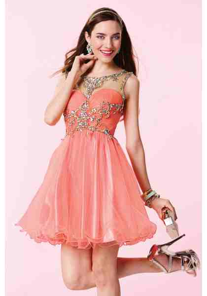 luxury-jewel-short-coral-tulle-a-line-cocktail-homecoming-dress-cac0089-a