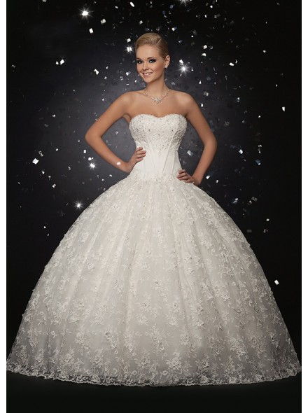 ball-gown-sweetheart-lace-ivory-wedding-dress-ld1982-a