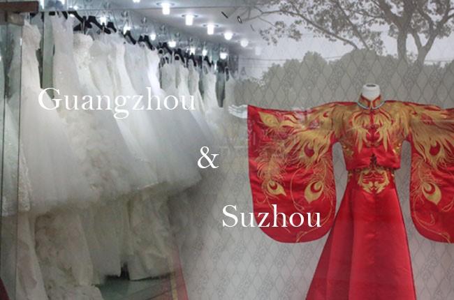 Suzhou and guangzhou the dream wedding dress the for Guangzhou wedding dress market