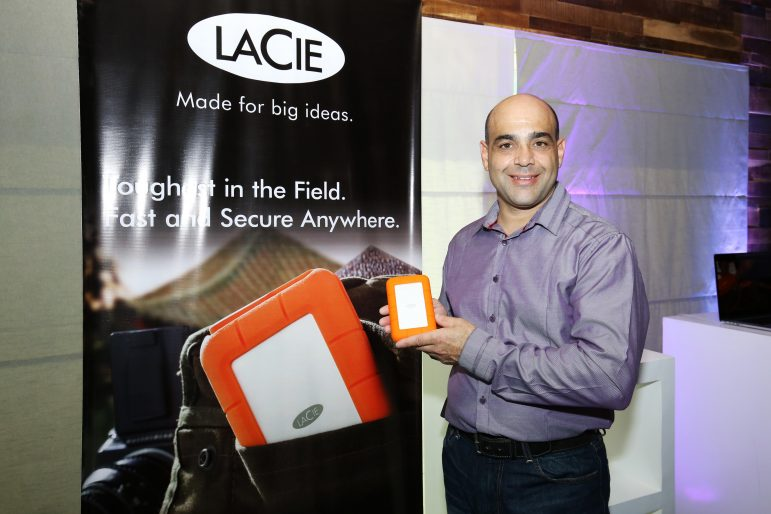 The newly launched LaCie Rugged RAID is shock, dust, and water resistant for all-terrain use, while providing speed and versatility. In photo is Seagate Technology Senior Field Applications Engineer Sam Zavaglia during a showcase held at the Power Mac Center, Power Plant Mall, Makati City. LaCie also launched LaCie Porsche Design Drives, which combine pure design and advanced technology.