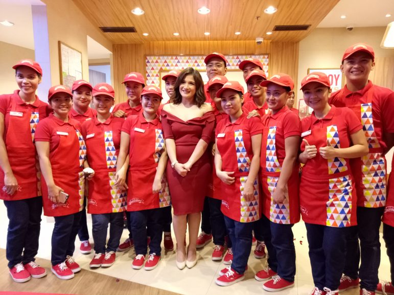 Camille Prats with the Red Ribbon crew.
