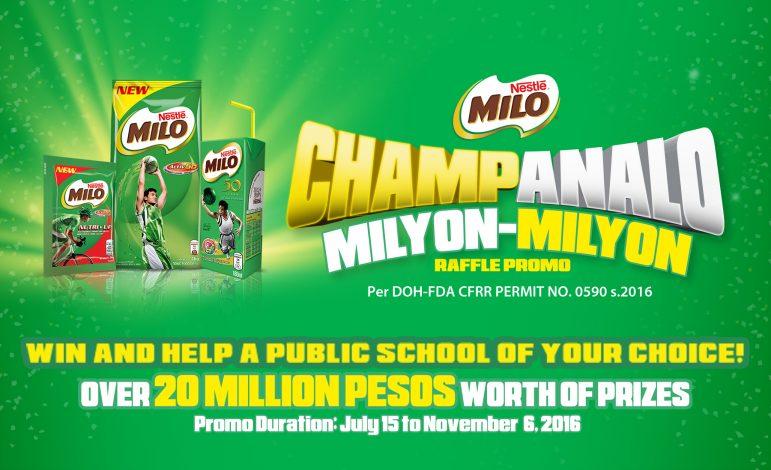 Milo Champanalo Milyon Milyon Promo
