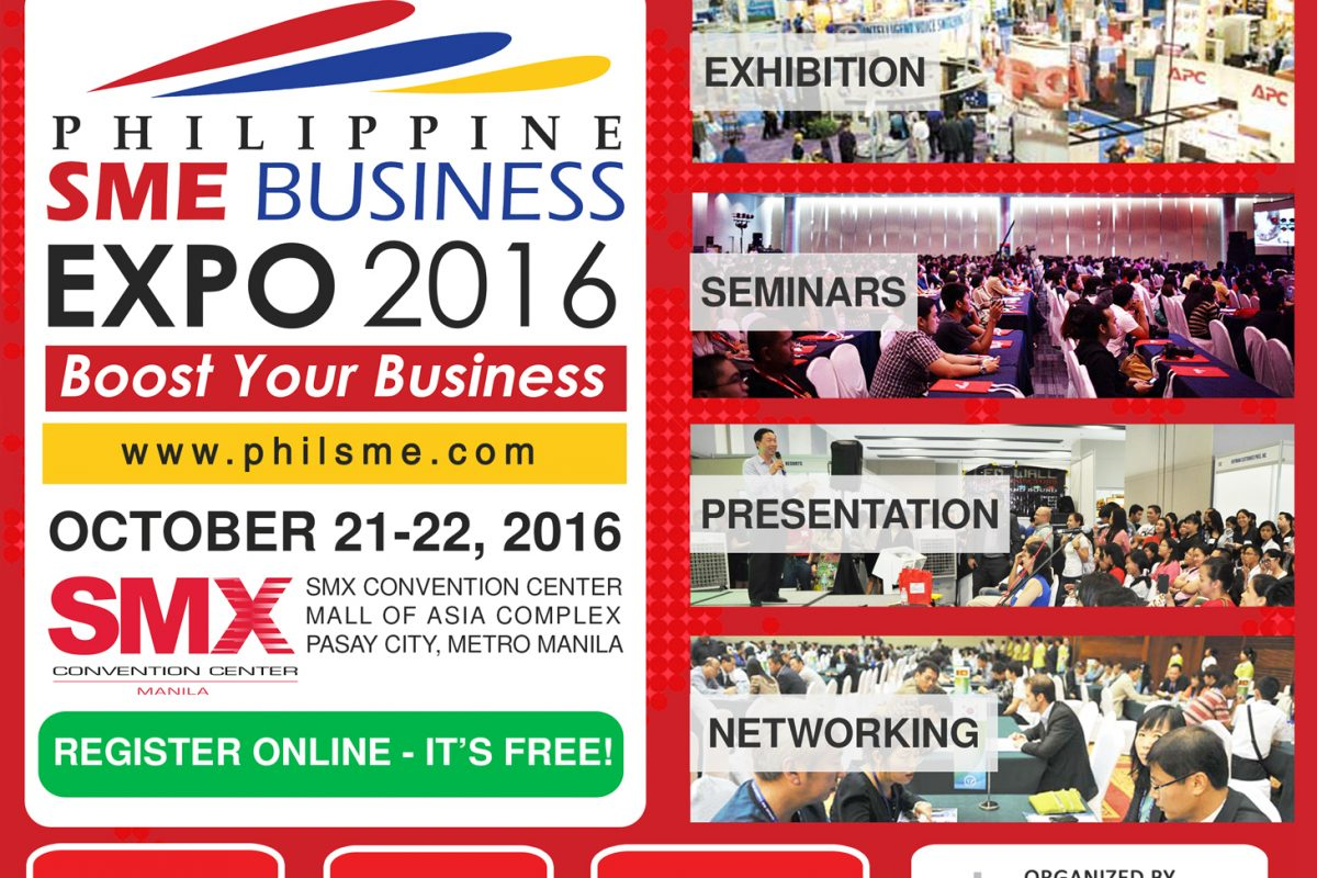 Philippine SME Business Expo Launches on October 21-22, 2016