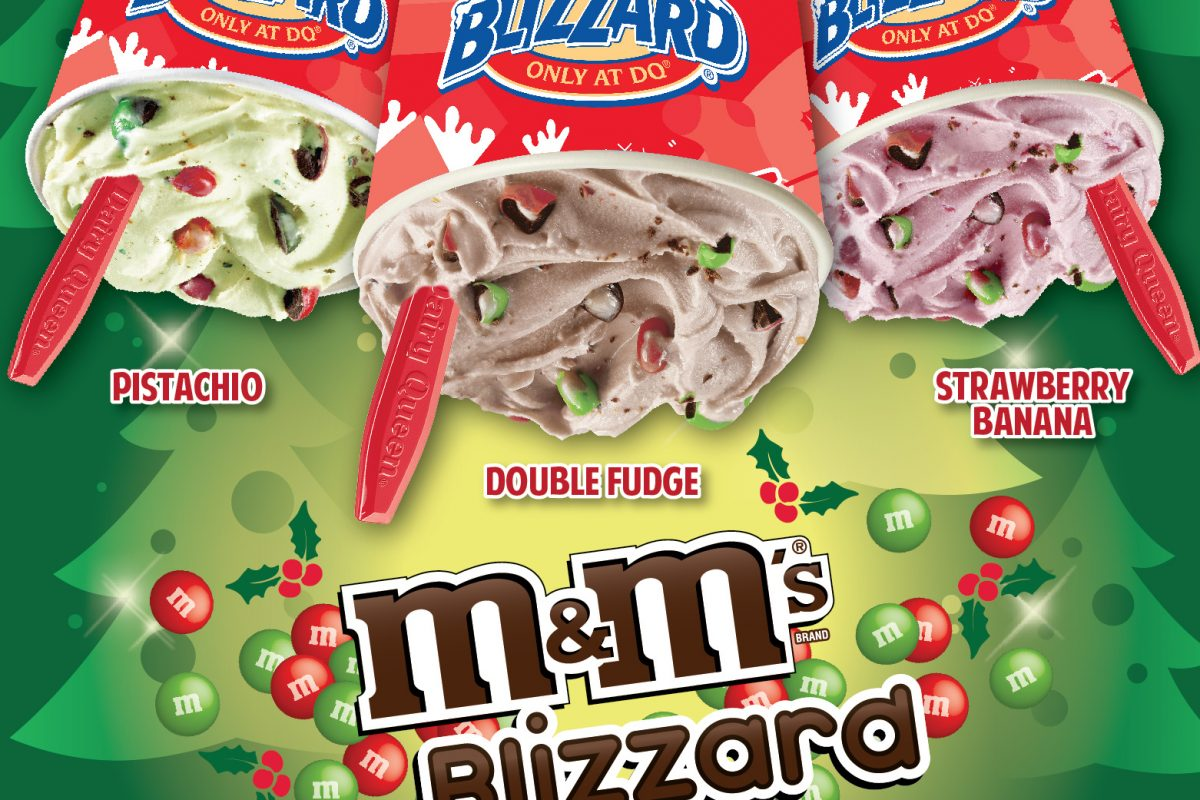 Dairy Queen Blizzard of the Month: M&M's Red and Green