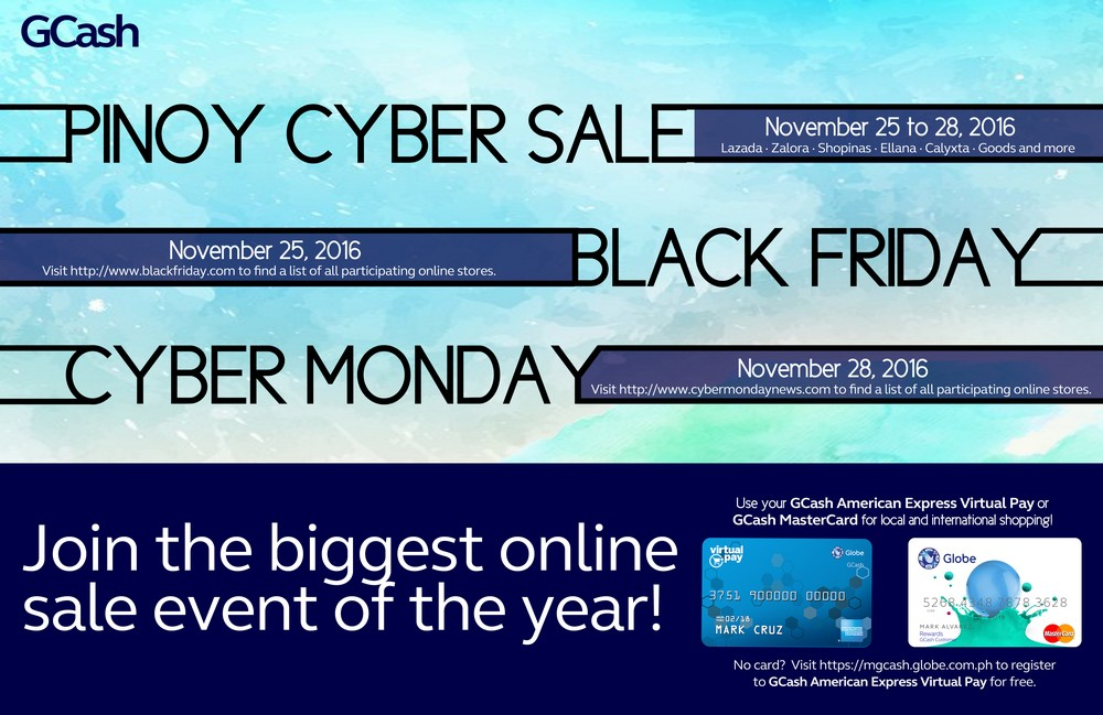 Pinoy Cyber Sale: Get 20% Rebate with Gcash Amex Card