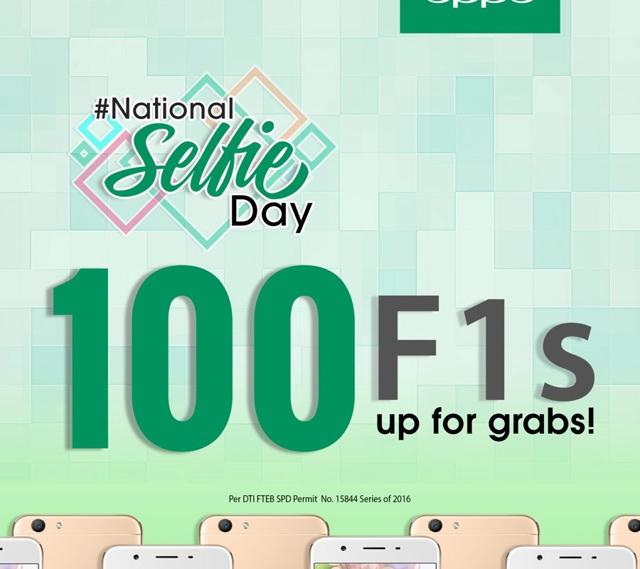 #NationalSelfieDay: 100 Oppo F1S Up For Grabs