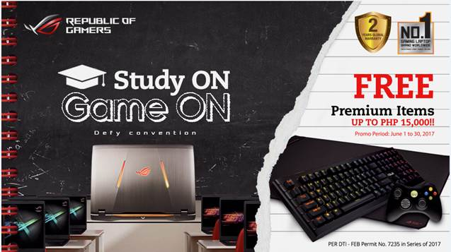 ASUS Republic of Gamers: Study ON Game ON Back-To-School Promo