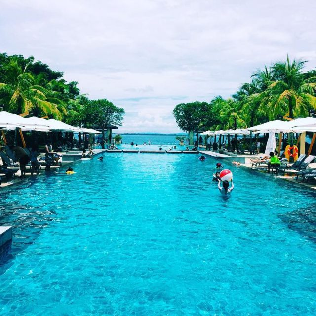 Infinity Pool in crimsonmactan Cebu City Philippines EATgetawaySquad CebTravelshellip